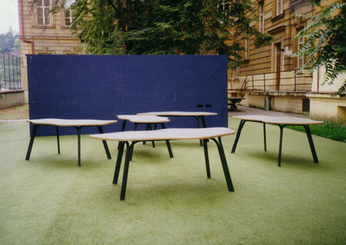 Summer classroom of an elementary school in Prague 1