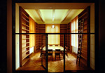 Interior of a library at the Institute of Philosophy and Religious Studies, Charles University in Prague