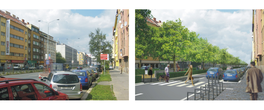 Humanisation of north-south arterial road in Prague